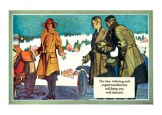 Stylish Help for a Lady in Need (1920s H.Paus Fashion Fashion Greeting Cards)