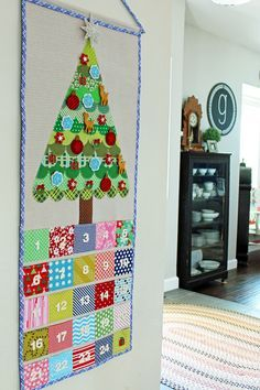 Quilted Advent Calendar by Amy Gibson of Stitchery Dickory Dock