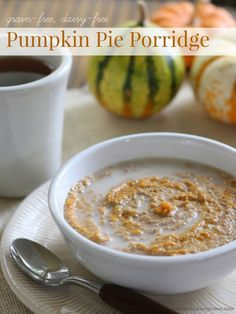 This Grain-Free Pumpkin Pie Porridge is the perfect wintertime breakfast! Its aromatic fall-inspired spices paired with subtle pumpkin flavor and warm, creamy texture is a delight to each of the senses.