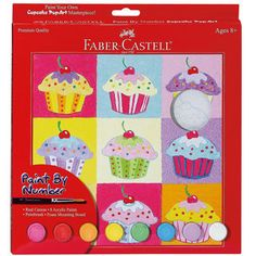 bulk buy creativity for kids paint by number kit cupcake pop art dimensions in