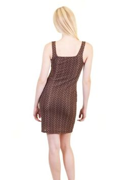 $14 Esley Chevron Zigzag Print Sequins Center Overlay Lined Mini Short Fitted Lined Dress Black LargeFrom Esley $14