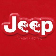 Aile de côté crâne Jeep Wrangler paire de vinyle par UniqueGraphix