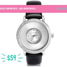 End of the year sale!! $59 for the silver locket watch with black leather band! Add charms or wear it plain and simple- https://dreambig.origamiowl.com/ #jewelry #watches