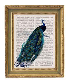 Peacock print @Jennifer Karaganis