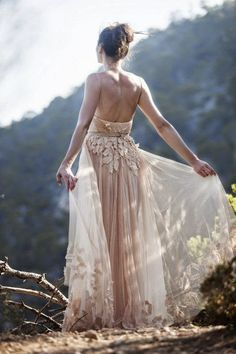 Blush boho adorable wedding dress inpiration | Fashion And Style