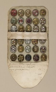 design-is-fine: Sales Book of Sample Buttons, century. Via Cooper Hewitt Sewing Tools, Sewing Notions, Sewing Box, Button Cards, Button Button, Passementerie, No Photoshop, Sewing A Button, Vintage Buttons