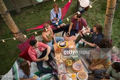 MAKE IT SPECIAL -- Stock Photo : Friends enjoying backyard dinner party