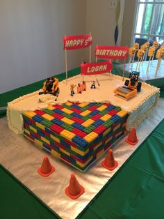 Lego Movie Construction Birthday Cake