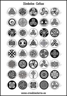 Lámina Imágenes de Símbolos Celtas Blanco y Negro I Simbolos Tattoo, Body Art Tattoos, Druid Tattoo, Norse Tattoo, Celtic Symbols And Meanings, Druid Symbols, Irish Symbols, Alphabet Symbols, Celtic Symbols