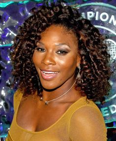 Williams was a true champion of style in rich ringlets with auburn highlights.