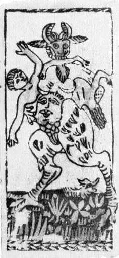 Il Diavolo - tarocco di M. Agnolo Ebreo del sec. XVI