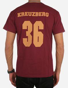 Depot2 Berlin - Original Kreuzberg 36 T-Shirt burgundy brown