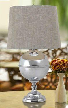 Atlas 1 Light Table Lamp In Chrome