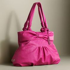 Of course it is from Kohls!  Magenta bow purse with pin tucks.  So girly!