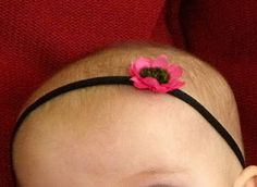 Tutorial: How to make skinny nylon headbands. Baby headband from nylons... never would have thought of that!
