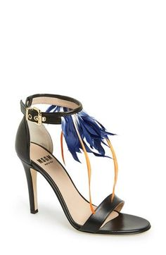 MSGM+High+Feather+Ankle+Strap+Sandal+(Women)+available+at+#Nordstrom