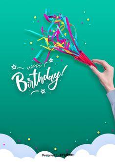 Happy Birthday Background Of White Realistic Balloon Cloud Birthday Invitation Background, Birthday Background Design, Book Background, Light Background Images, Blue Sky Background, Happy Birthday Fireworks, Happy Birthday Art, Happy Birthday Greeting Card, Happy Birthday Images