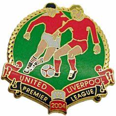 United v Liverpool Premier Match Metal Badge 2004-2005