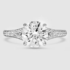 18K White Gold Duet Diamond Ring