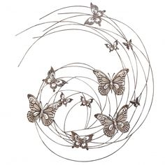 This Stunning, Extra Large Butterfly Swirl Wall Art Feature Is Ideal To  Make A Statement
