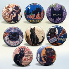 Black Cat Vintage Art
