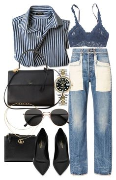 """Untitled #21708"" by florencia95 ❤ liked on Polyvore featuring Helmut Lang, Rolex, Gucci, Hanky Panky, Yves Saint Laurent, Tiffany & Co. and H&M"