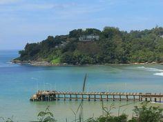 The pier at the north end of Kamala Beach (Naka).