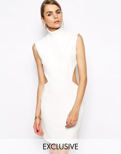 Image 1 ofSolace London Stone Mini Dress With Cut Out Back