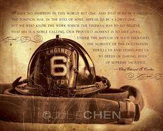FIREMAN Keepsake - Fireman Gift - Fireman Quote - Fireman Art - Firefighter Poem - Inspirational Art - Retirement Gift - Boy Nursery Decor