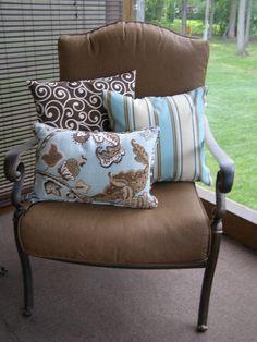 New patio pillows