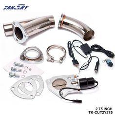 "TANSKY - 2.75"" Elextric Exhaust Catback Cutout W/Switch ByPASS Valve Kit + Remote For Impreza GC GF GM EJ18 TK-CUT2Y275 #Affiliate"