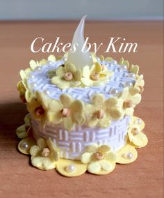 """Lemon Cream"" Tea Light Cake (made by Kim)"