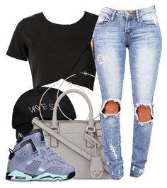 """woes"" by clickk-mee ❤ liked on Polyvore featuring October's Very Own, H&M, MICHAEL Michael Kors and Retrò"