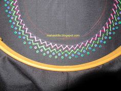 Creative thoughts: Embroidery around the neck