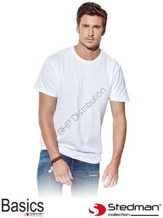 Biały t-shirt męski STEDMAN ST2000_WHI