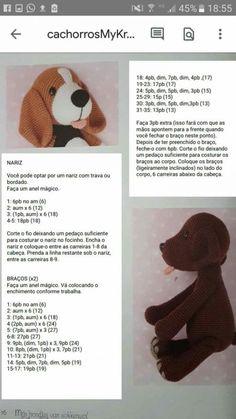 Crochet Dog Patterns, Crochet Bunny Pattern, Crochet Teddy, Crochet Bear, Crochet Animals, Amigurumi Patterns, Crochet Dolls, Free Crochet, Crochet Unicorn