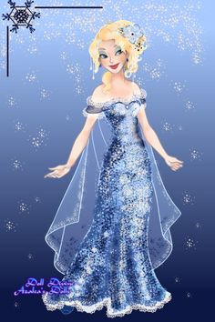 Snow Fall by ClockworkCoffee ~ Princess Jasmine dress up game Disney Dolls, Disney Art, Sailor Princess, Disney Princess, Princess Anna, Princess Jasmine Dress, Ice Texture, Doll Divine, Yule Ball