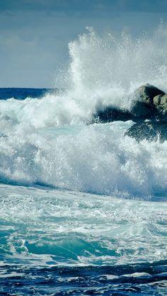Waves Crashing On Rocks, nice shot