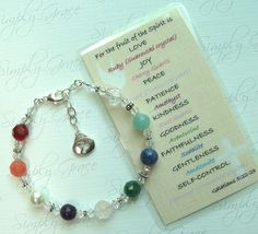 Fruit of the Spirit Bracelet - could make this with colored beads