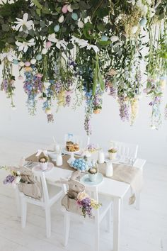 Perfect spring table for children's party