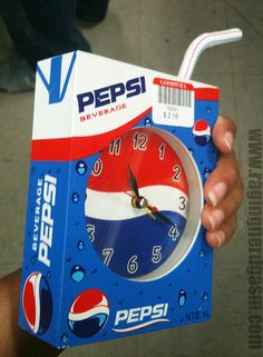 Bootleg Pepsi clock. Check out more pictures on our flickr http://www.flickr.com/photos/ragingnerdgasm/sets/72157631814310323/