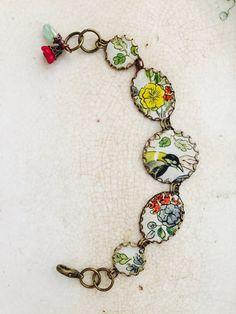 Tin Jewelry Bracelet Avian Garden Tin for the Ten