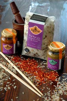 """Spice & All Things Nice- """"My product range incorporates Kashmir, Indian, Cape Malay, Thai and Moroccanspices as well as complimentary grains which includeFlavoured Rices,Cous Cous andPoppadums. We have also launched aMuesli,Salad Sprinkle andSnack on the Go range. I have focused on health, convenience and vegetarian friendly products that use only the finest quality ingredients. There is something for everybody (mild and hot) and our range is fun, quick and easy to cook with."""" Flavored Rice, Moroccan Spices, Muesli, Couscous, Sprinkles, Cape, Grains, Product Launch, Vegetarian"""