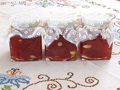 The famous marmalade of sweet tomato, made in Marmalade, Kos, Pudding, Sweet, Desserts, Candy, Tailgate Desserts, Deserts, Custard Pudding