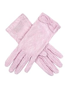 Lavender women's pastel lace gloves with a lace bow detail. Composition: Nylon Lining: Unlined Button Length B/L – These gloves extend approximately inches above the wrist. Lace Gloves, Leather Gloves, Lace Bows, Occasion Wear, Feminine, Velvet, Lady, Fabric, Composition
