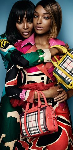Naomi Campbell and Jourdan Dunn star in the new Burberry Spring/Summer 2015 campaign  Shot by Mario Testino