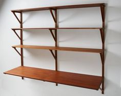 Bookcase and Desk Designed by Børge Mogensen for Erhard Rasmussen | From a unique collection of antique and modern shelves at https://www.1stdibs.com/furniture/storage-case-pieces/shelves/