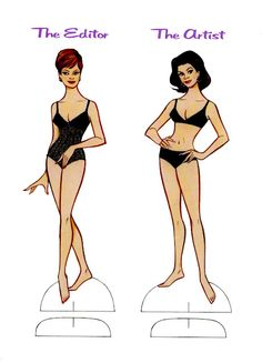 Fabulous Femmes  - the editor and the artist paper dolls