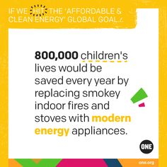 Affordable and clean energy | ONE