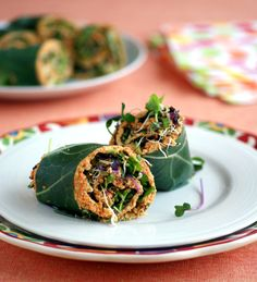 Collard Wraps with Raw Curried Carrot Pate (Grain-Free, Candida-Friendly)